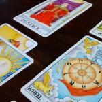 Tarot cards feature vivid artwork